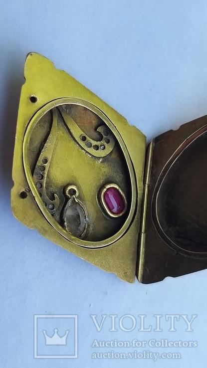 Старинный кулон под фотографию  56 пробы, фото №7