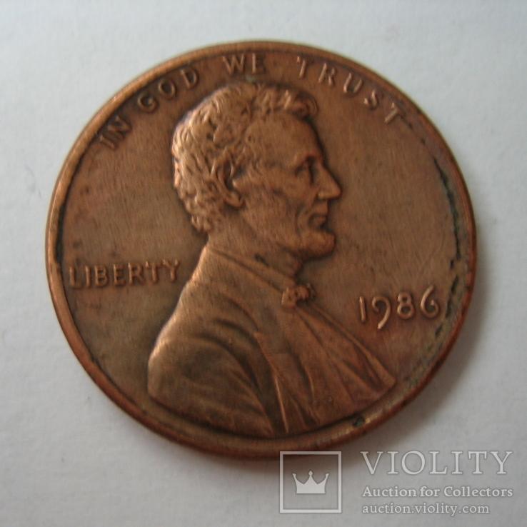 США 1 цент 1986 года., фото №2