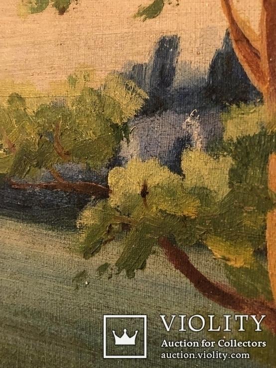 Работа по мотивам картины ''На кладке'' К.Трутовского . Копия., фото №6