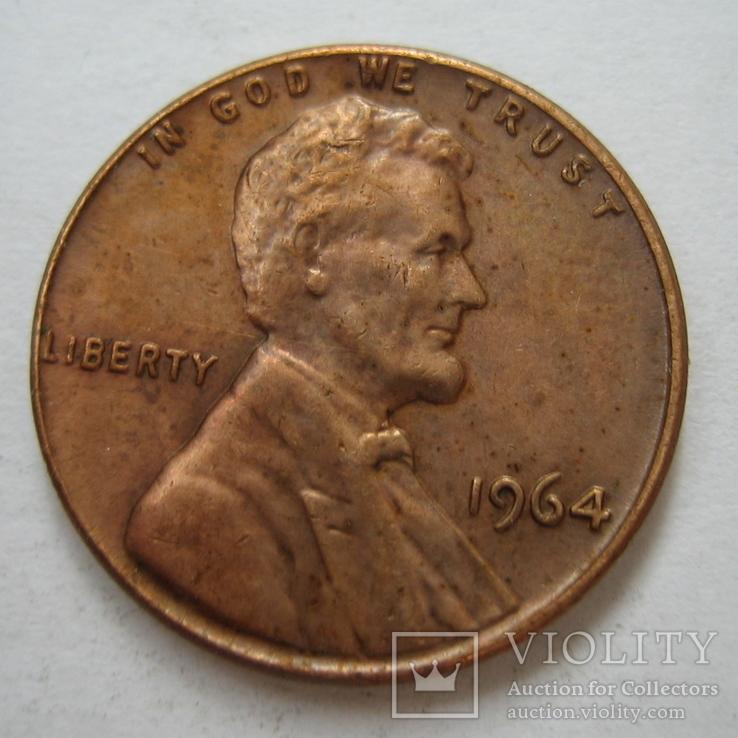 США 1 цент 1964 года., фото №2