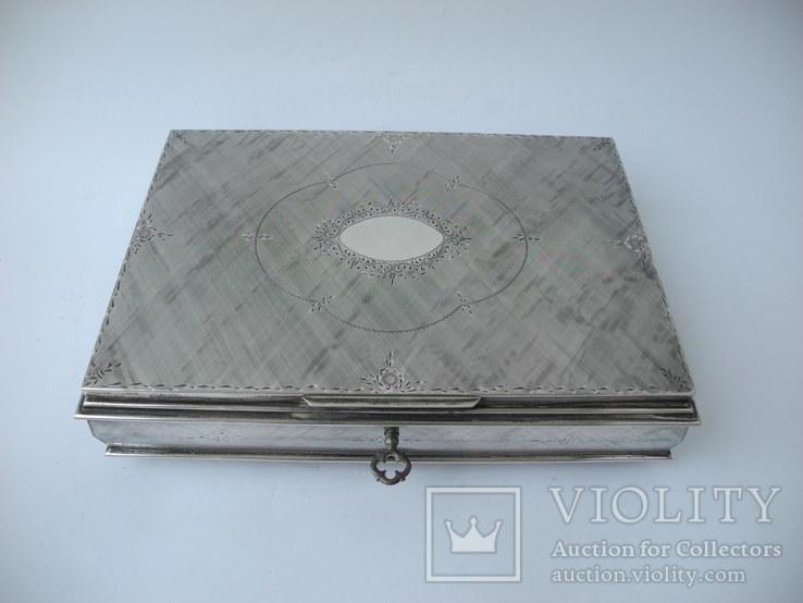 Музыкальная шкатулка для украшений ( Серебро 800 пр ) Италия, фото №2