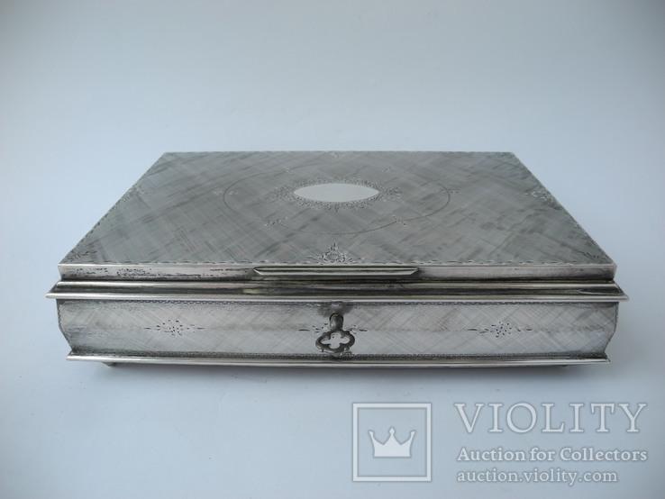 Музыкальная шкатулка для украшений ( Серебро 800 пр ) Италия, фото №3