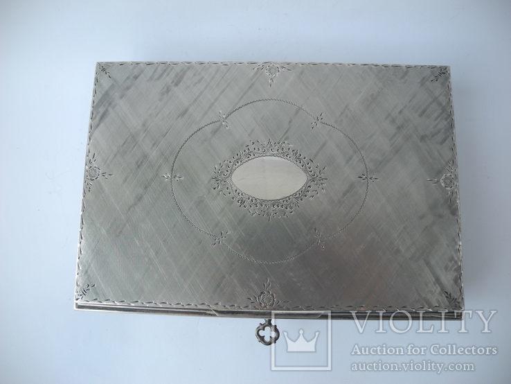 Музыкальная шкатулка для украшений ( Серебро 800 пр ) Италия, фото №5