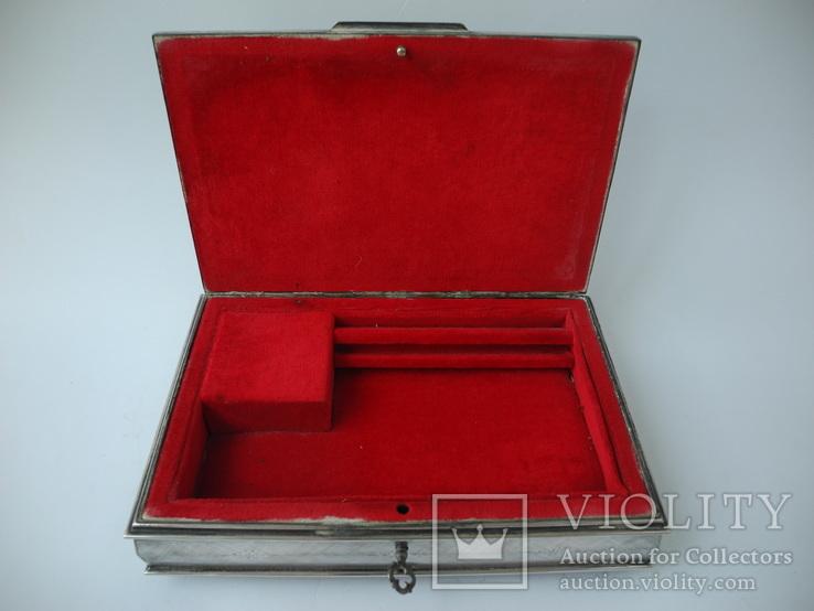 Музыкальная шкатулка для украшений ( Серебро 800 пр ) Италия, фото №9