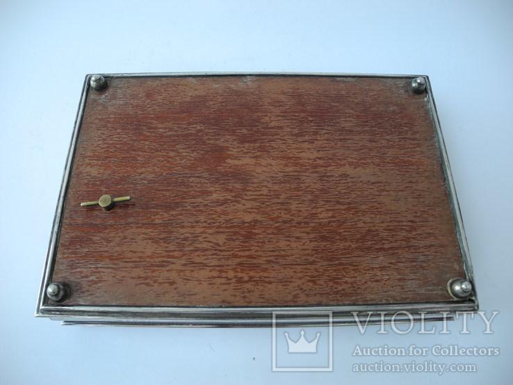 Музыкальная шкатулка для украшений ( Серебро 800 пр ) Италия, фото №10