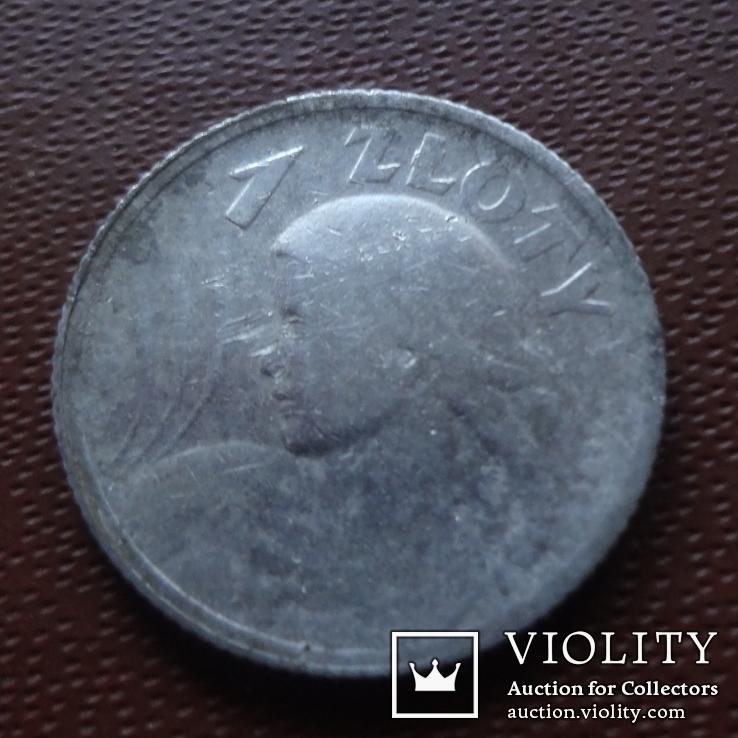 1 злотый 1924 Польша жница серебро (М.7.20), фото №3