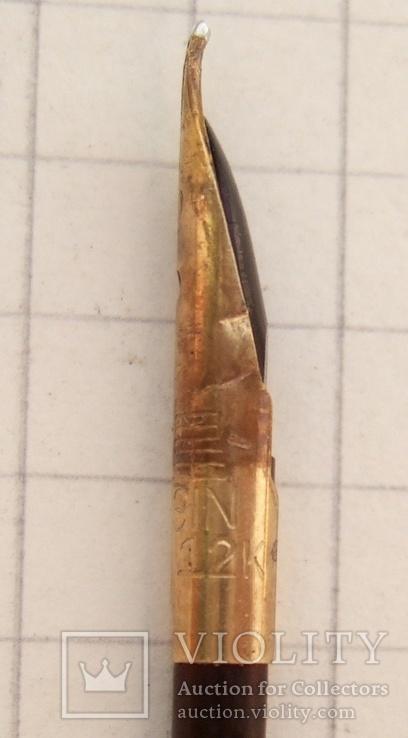 """Китайская копия """"Parker-51"""" 60 г. Перо - золото 500 пробы. Пишет мягко и тонко., фото №8"""