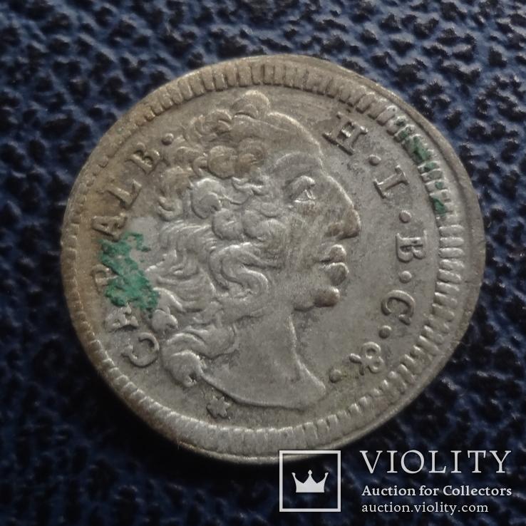 3  крейцера  1733  Бавария  серебро   ($11.1.28)~, фото №2