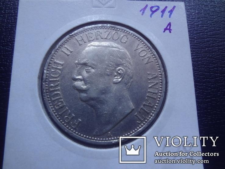 3 марки 1911  Анхальт серебро  Холдер  178 ~