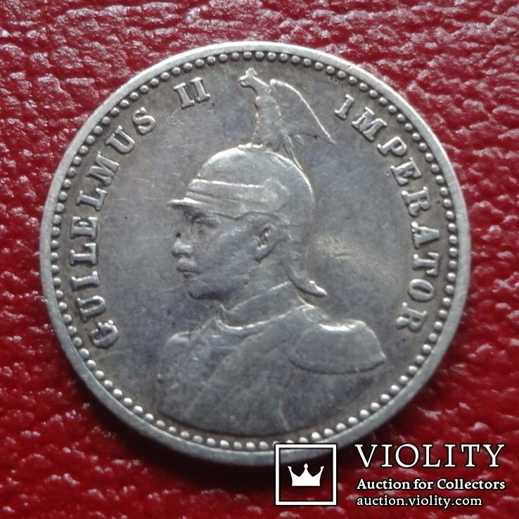 1/4 рупии  1907  J  Германская Африка  серебро   (3.11.6) ~