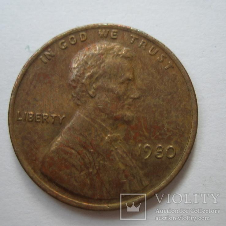 США 1 цент 1980 года., фото №4