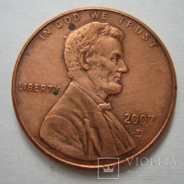 США 1 цент 2007 года.D., фото №4