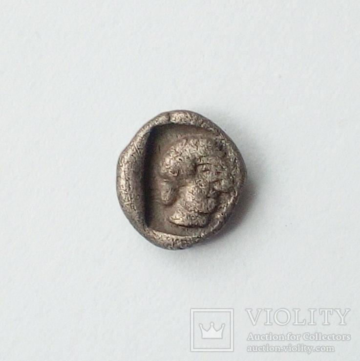 Гемиобол (серебро) Кария, г.Галикарнас, 480 - 450 гг.до н.э., фото №5