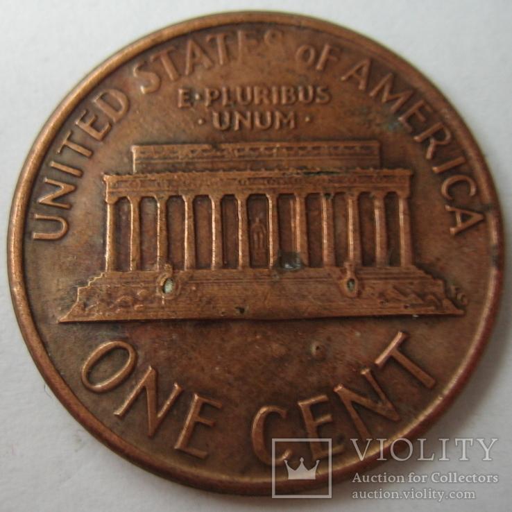 США 1 цент 1987 года.D, фото №3