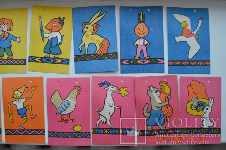 """Полный набор """" Флажки детские для ёлки """". Из СССР. 15 штук. 1968 г.в. Состояние новых. №2, фото №5"""