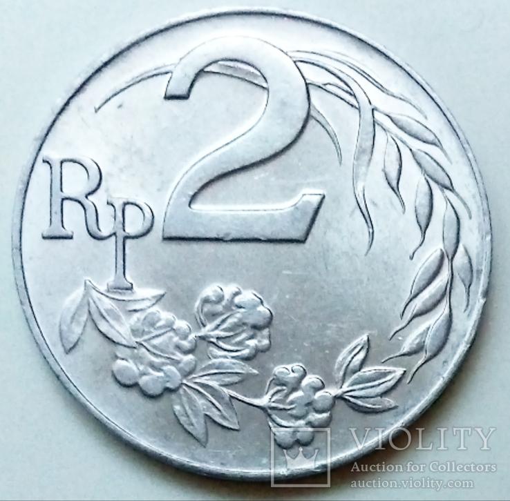 2 рупии 1970 г. Индонезия, фото №3