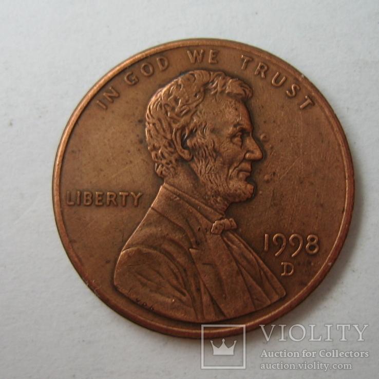 США 1 цент 1998 года.D, фото №4
