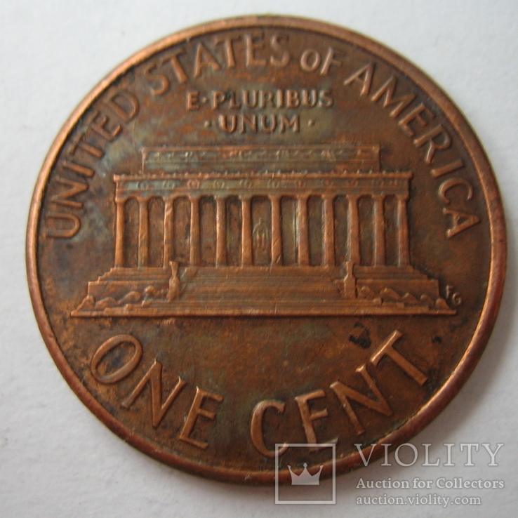 США 1 цент 1991 года.D, фото №6