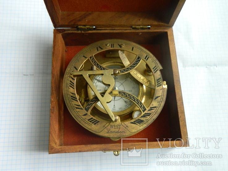 Компас морський, із сонячним годинником., фото №5