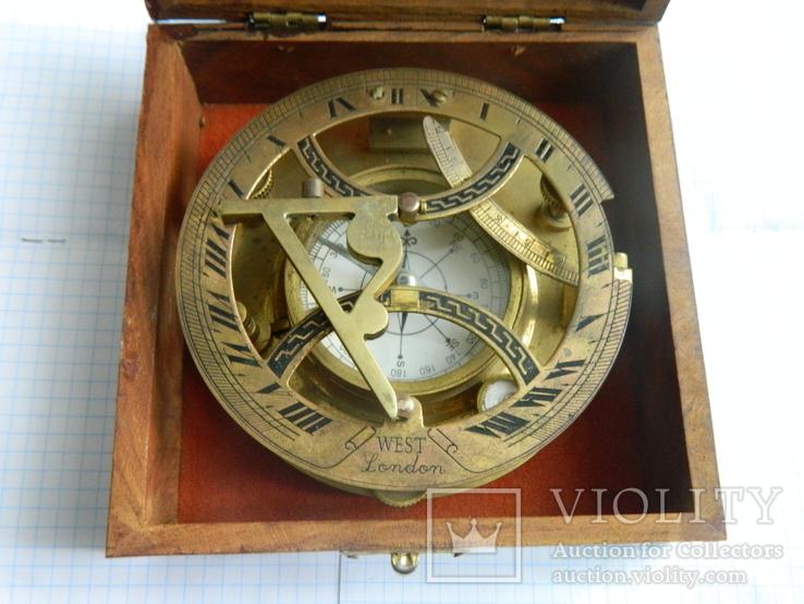 Компас морський, із сонячним годинником., фото №6