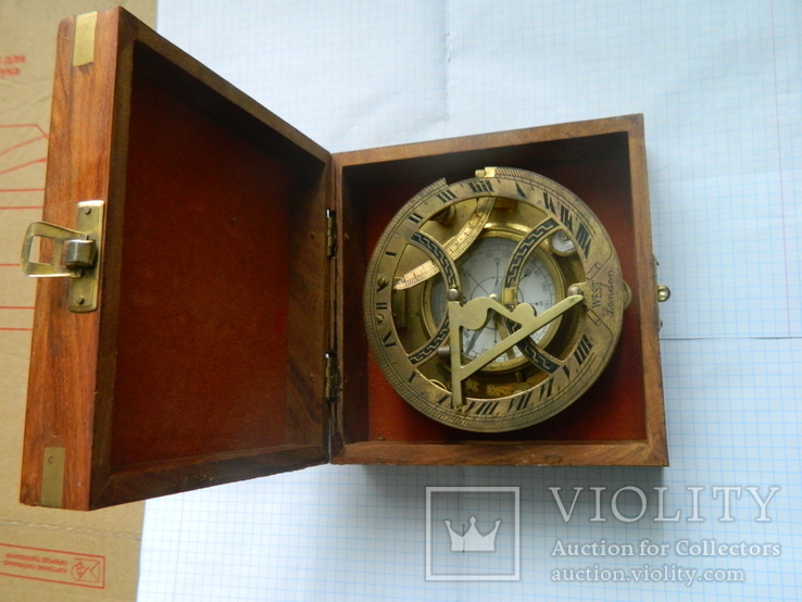 Компас морський, із сонячним годинником., фото №7