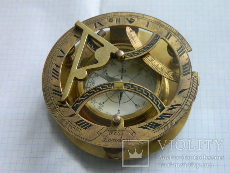 Компас морський, із сонячним годинником., фото №8