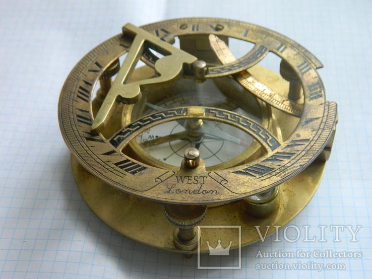 Компас морський, із сонячним годинником., фото №9