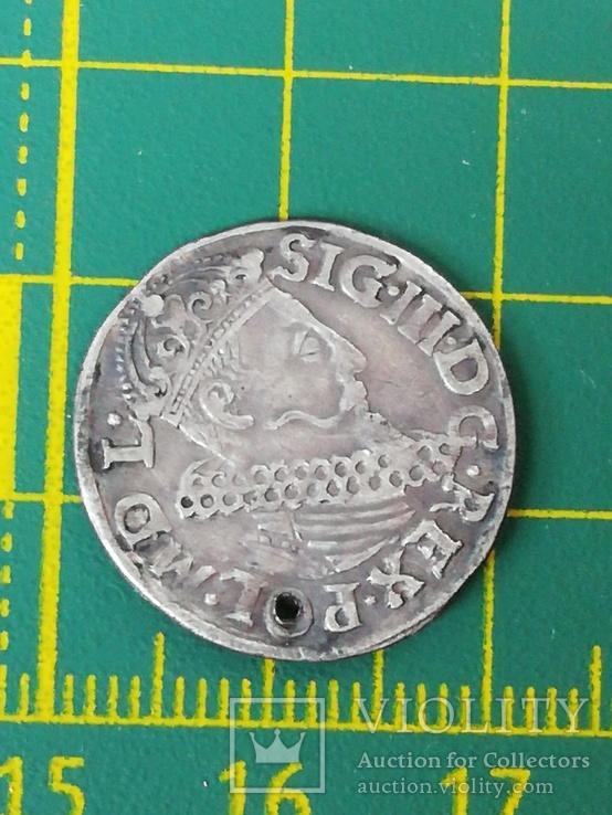 Трояк 1619 года со смещением, фото №4