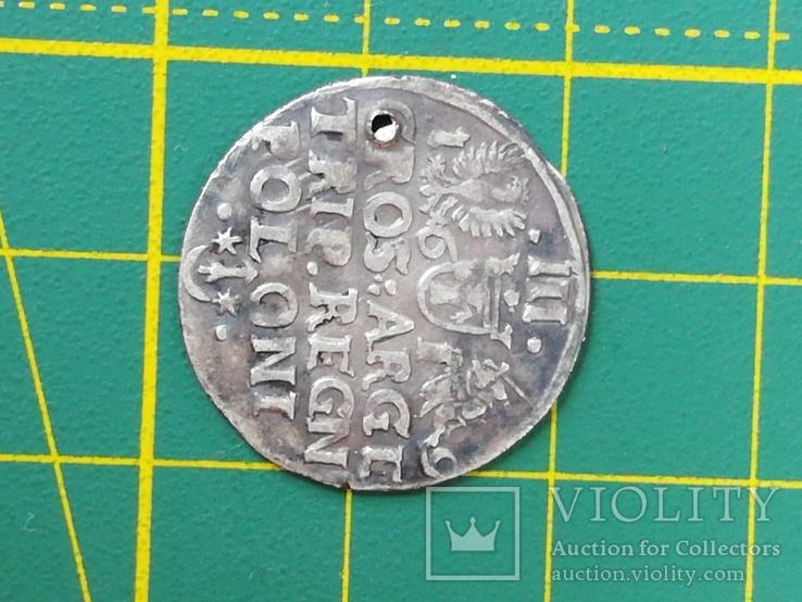 Трояк 1619 года со смещением, фото №5