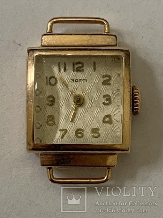 Золотые часы Заря 583 проба, фото №2