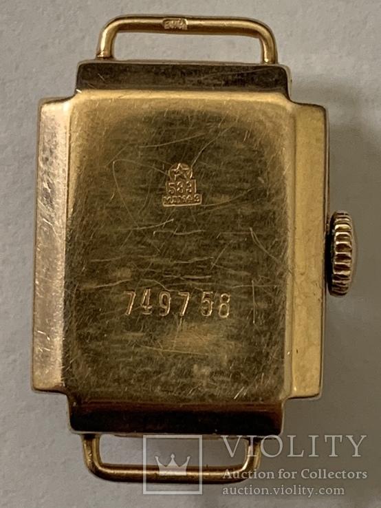 Золотые часы Заря 583 проба, фото №3