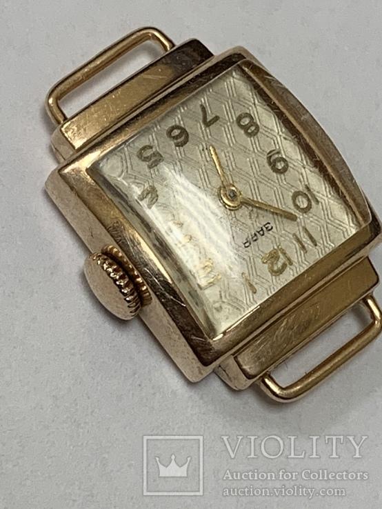 Золотые часы Заря 583 проба, фото №4