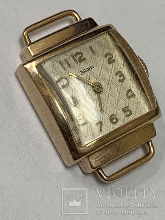 Золотые часы Заря 583 проба, фото №5