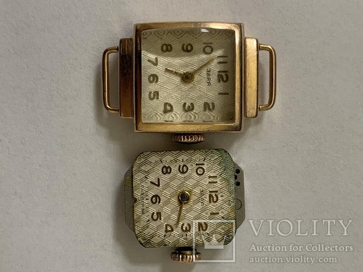 Золотые часы Заря 583 проба, фото №6