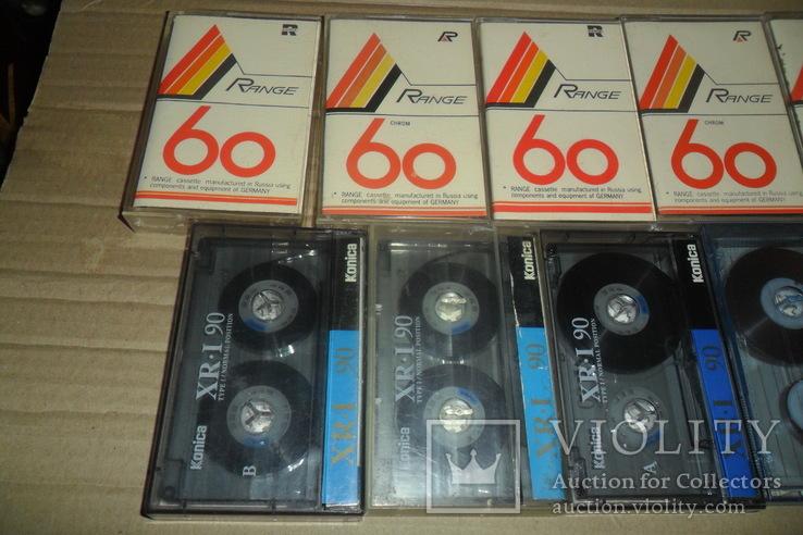 Аудиокассета кассета 11 штук Range Ronees Konica, фото №3
