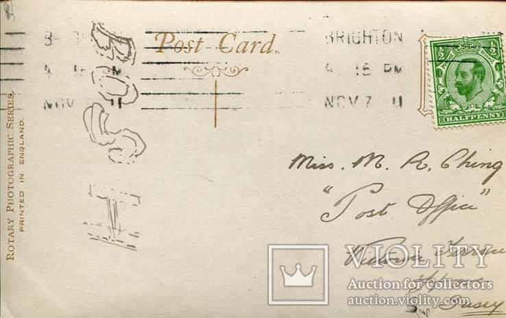 Англия. Девочка в костюме дикарки. Фотооткрытка 1900-х гг., фото №3