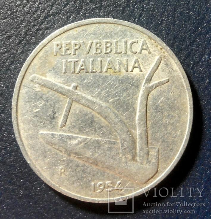 Италия 10 лир 1954, фото №3