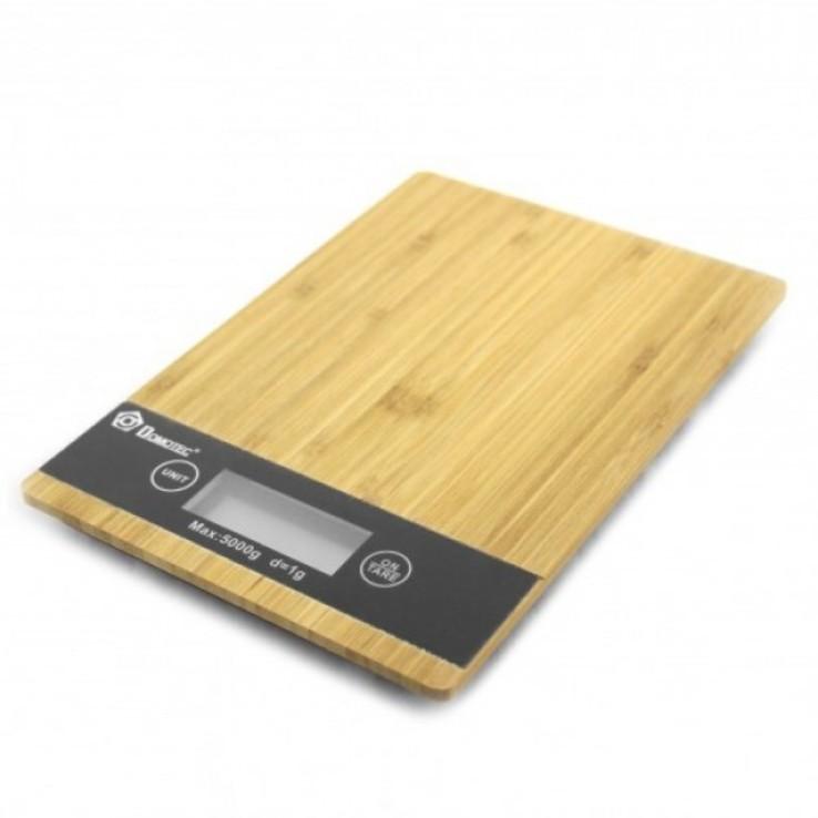 Весы кухонные электронные цифровые Domotec до 5 кг бамбук