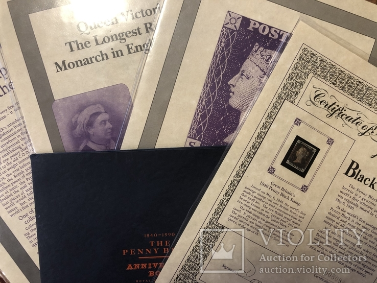 Первая марка мира. Чёрный пенни. 1840 год. С сертификатом и буклетом., фото №3