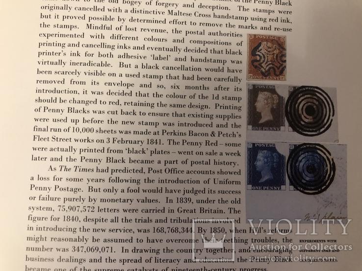 Первая марка мира. Чёрный пенни. 1840 год. С сертификатом и буклетом., фото №12