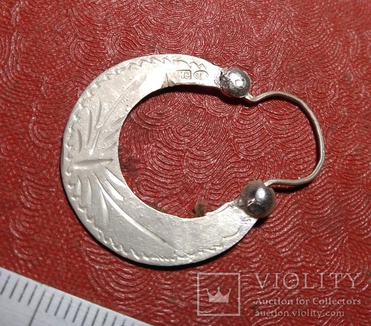 Серьга 1 шт. серебро, фото №4