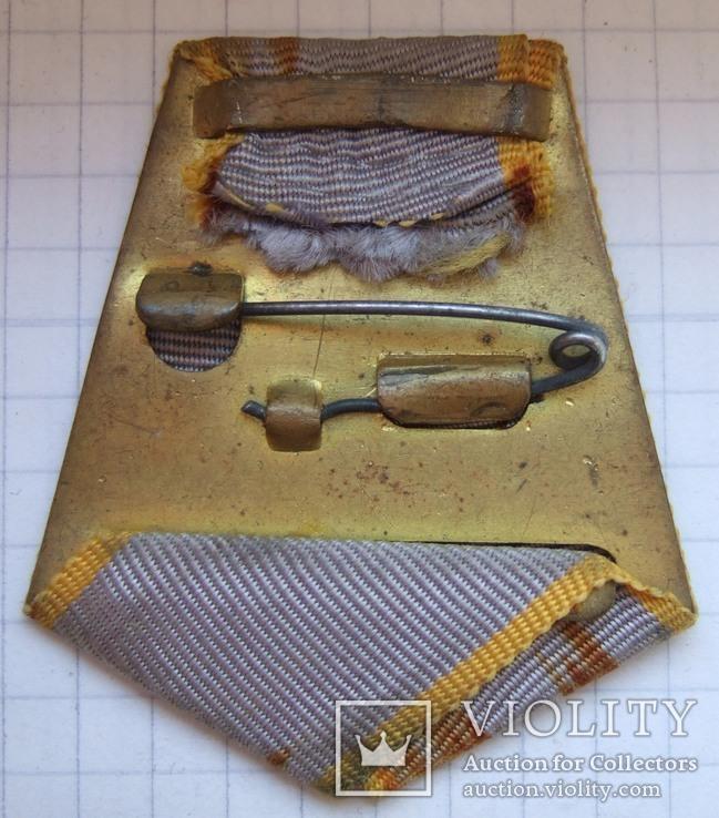 """Латунная колодка со старой лентой """"За боевые заслуги"""", фото №3"""