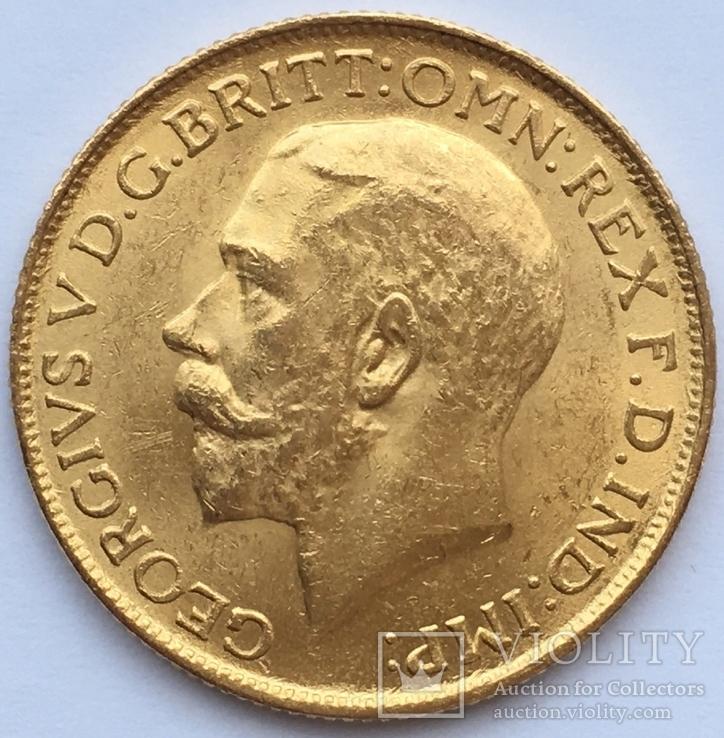 Британська Індія Соверен 1918 року (І) Бомбей Золото 7,98 грам 917' проби, фото №3