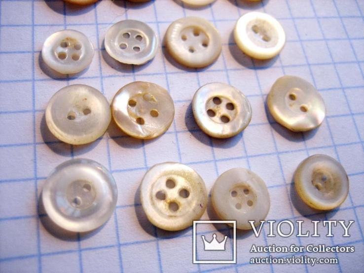 20 штук гудзиків перламутрових 19 століття, фото №6