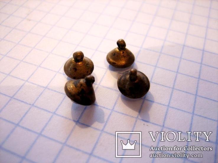4 старовинних бронзових  гудзики 19 століття, фото №4