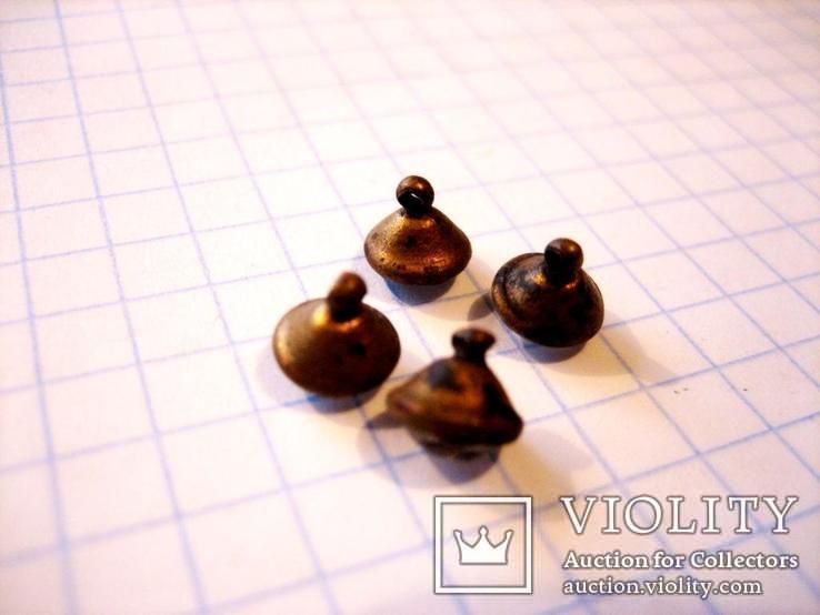 4 старовинних бронзових  гудзики 19 століття, фото №5