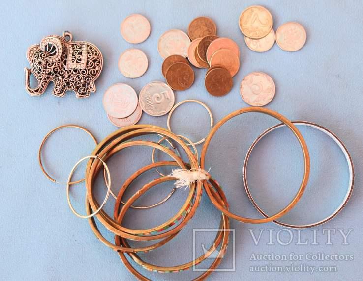Слон бижутерия браслеты монеты, фото №3