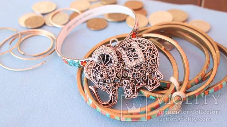 Слон бижутерия браслеты монеты, фото №2
