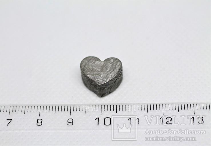 Залізній метеорит Muonionalusta, форма серця, 7,1 грам, сертифікат автентичності, фото №4