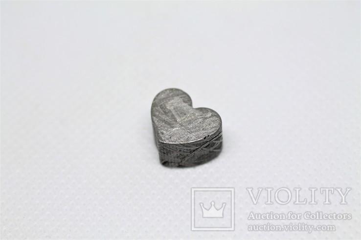 Залізній метеорит Muonionalusta, форма серця, 7,1 грам, сертифікат автентичності, фото №6